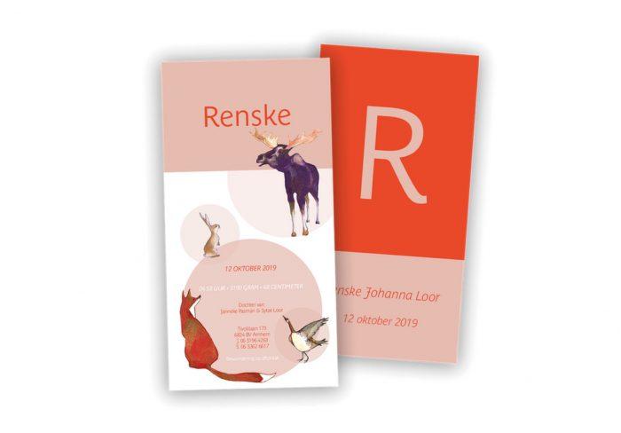 Geboortekaart Renske